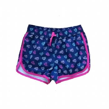 girls' beach shorts with AOP style No.: JG01312